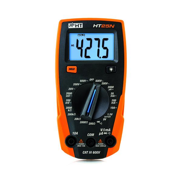 HT25N Kompaktes Multimeter mit Batterietester
