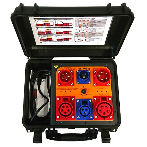 HT-MK3 Messkoffer für CEE 16 und CEE 32 Verlängerungsleitungen mit Verdrahtungstest