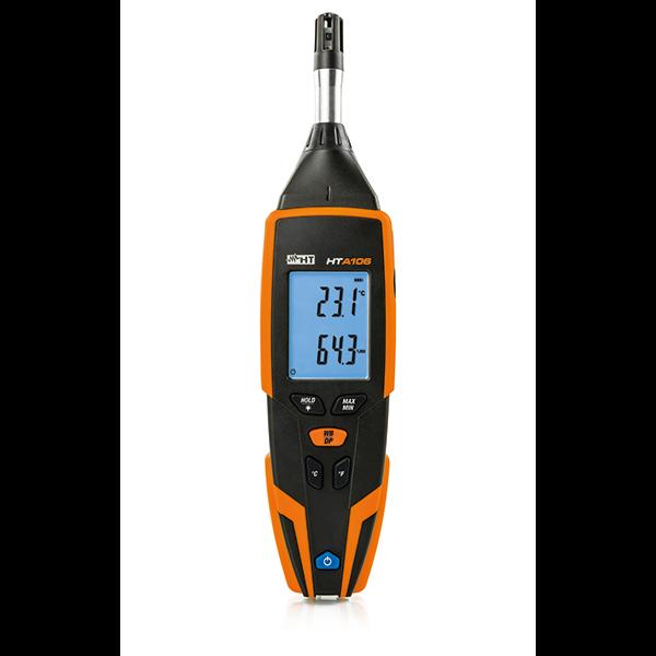HTA106 Thermo-Hygrometer zur Messung von Lufttemperatur, Luftfeuchte, Taupunkt- und Feuchtkugeltemperatur