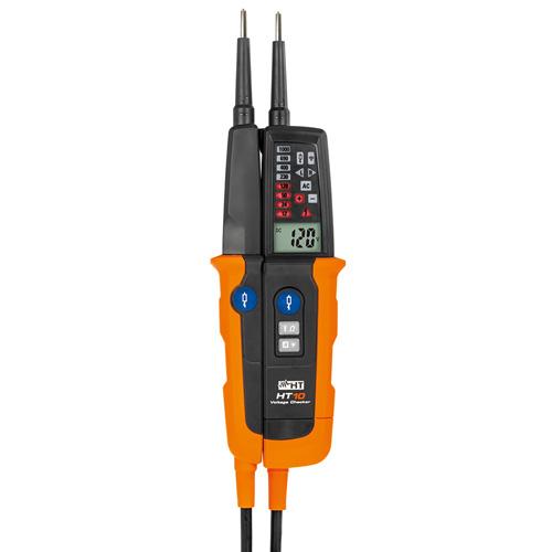 HT10 2-poliger Spannungsprüfer (CAT IV) mit Lastzuschaltung bis 1000V AC/DC