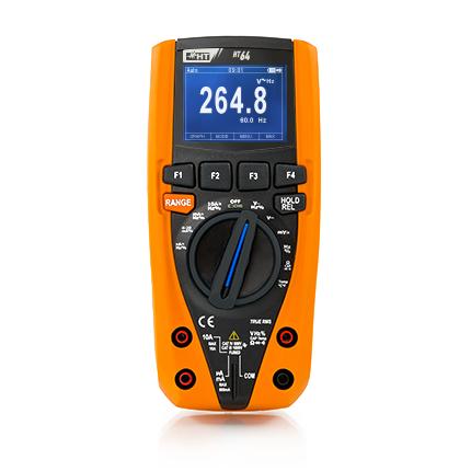 HT64 Digitales Multimeter TRMS, 4 stellige Anzeige, 6000 Digits, Datenlogger, Bargraph, CAT IV