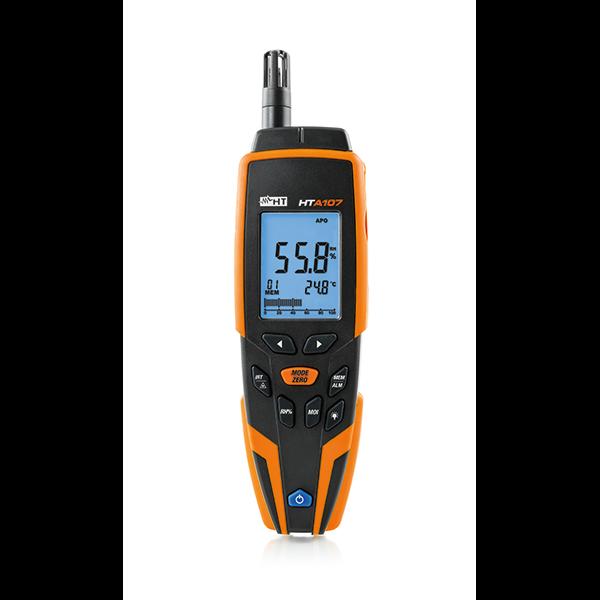 HTA107 Thermo-Hygrometer zur Messung von Lufttemperatur, Luftfeuchte, Materialfeuchte und Infrarottemperatur