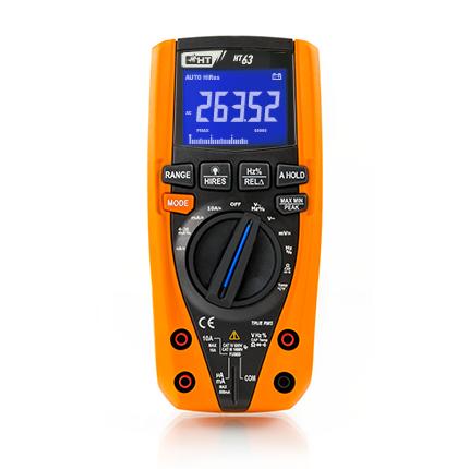 HT63 Digitales Multimeter TRMS, 4 stellige Anzeige, 6000/60000 Digits, Bargraph, CAT IV